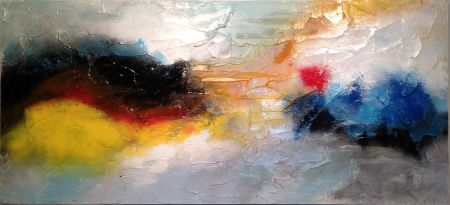 Untitled 84 - 48 x 23.5 - Material: Acrylic on Wooden Board Canvas