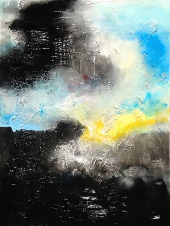 Rising  - 48 x 35 x 1.5 - Material: Acrylic on Hand