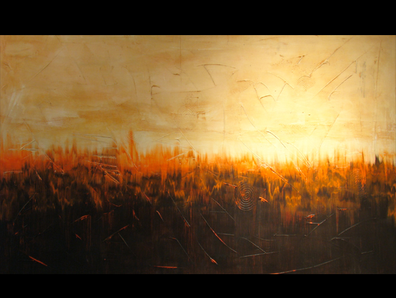 Art for sale urban dawn by romildo santos artist in atlanta for Painting for sale by artist